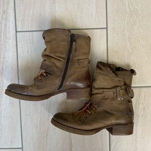 Steve Madden combat booties size 8